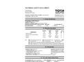 Total Solution - Model AL-8021 - Aerosol Foaming Coil Cleaner - MSDS