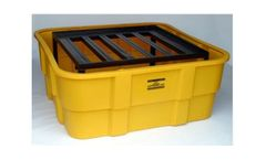 EAGLE - Model 1680 - IBC Containment Unit with Steel Platform - Yellow - No Drain