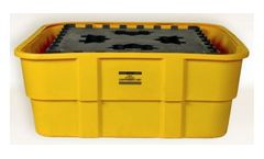 EAGLE - Model 1683 - IBC Containment Unit with Poly Platform - Yellow No Drain