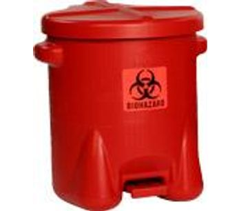 EAGLE - Model 947BIO - Biohazardous Waste Can, 14 Gal. Red Poly