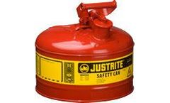 JUSTRITE - Model 7125100 - Type I Steel Safety Can for Flammables 2.5 Gallon (Red)
