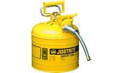 Justrite AccuFlow - Model 7220220 - Type II Steel Safety Can for Flammables 2 Gallon (Yellow with 5/8 Hose)