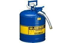 Justrite AccuFlow - Model 7250330 - Type II Steel Safety Can for Flammables 5 Gallon (Blue with 1 Hose)