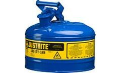JUSTRITE - Model 7125300 - Type I Steel Safety Can for Flammables 2.5 Gallon (Blue)