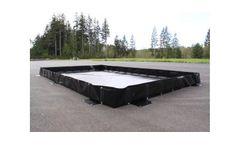 Spill Containment L-Bracket Berm - 10` x 20` x 18