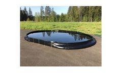 Drive Thru Spill Containment Berm - 15` x 66` x 12