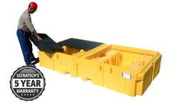 UltraTech - Model 1144 - Twin IBC Spill Pallet - with Drain