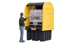 Justrite - Model 28677 - IBC Outdoor Shed with Spill Pallet