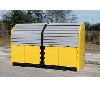 UltraTech - Model 9651 - Hard Top P8 Plus - 8 Drum Spill Containment Unit - With Drain
