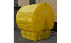Eagle - Model EM-1683STC - IBC Containment Unit with Soft Top Cover & Poly Platform