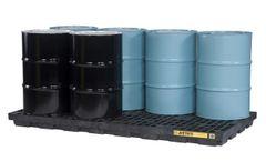 Justrite EcoPolyBlend - Model 28661 - 8 Drum Black Accumulation Center