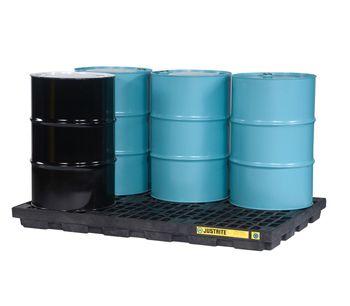 Justrite EcoPolyBlend - Model 28659 - 6 Drum Black Accumulation Center