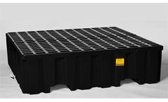 Eagle - Model 1640B - Spill Containment Pallet - 4 Drum - With Drain