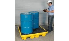UltraTech - Model 1231 - Spill Pallet Nestable 4 Drum With Drain