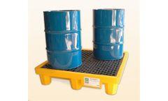 UltraTech - Model 1000 - Spill Pallet P4 - 4 Drum No Drain