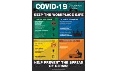 Safety Poster: COVID-19 Keep the Workplace Safe - 22 x 17