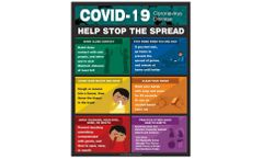 Safety Poster: COVID-19 Help Stop The Spread - 22 x 17