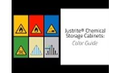Justrite Chemical Storage Cabinets Color Guide - Video