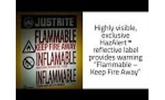 Justrite Sure Grip EX Safety Storage Cabinets - Video
