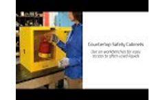 Justrite Transportable Mini Countertop and Compact Cabinets - Video