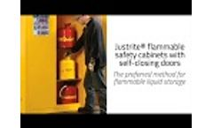 Justrite Safety Cabinets with Self Closing Doors - Video