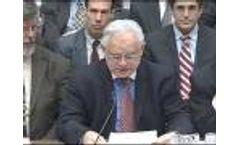 National Wildlife Federation CEO Larry Schweiger Testifies on Global Warming Video