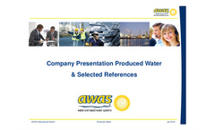 Company Produced Water & Selected References Presentation