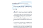 Maritime Electronic Monitoring and Reporting - Brochure