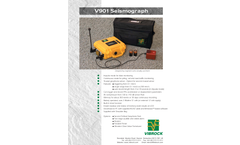 Vibrock - Model V901 - Seismograph Brochure