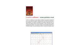 CUSTIC software (noise pollution) brochure