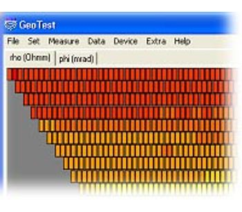 Version GeoTest - Software for Controling Geoelectric Tomography