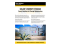 Solar - Energy Storage - Brochure