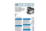 "Model 5 GPH - 20 GPM (LL) - 1/4"" - 1"" Variable Area Piston Flowmeter Brochure"