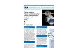 """Model 80 - 500 GPM Water (LN) - 1 1/2"""" - 4"""" Variable Area Vane-Style Flowmeter Brochure"""