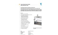 Leak Master - Easy Leak Detetection System Brochure