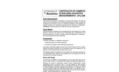 Certificate Course in Building Acoustics Measurements Brochure