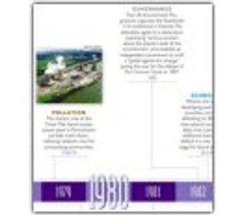 Environmental Milestones: A Worldwatch Retrospective 39` x 27` Timeline Poster