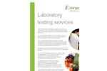 Laboratory Testing Services – Brochure