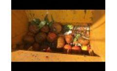Food Waste Shredder, Organic Waste Recycling Line Video