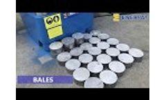 Enerpat Aluminum Chips Briquetting Press Machine Video