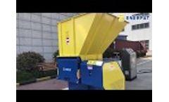 Enerpat Single Shaft Shredder for Different Material Video