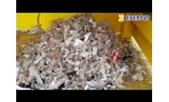 Enerpat Two Shafts Shredder for Plastic Film,PP Woven Bags,Waste Cloth