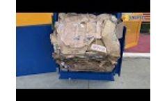 ENERPAT Cardboard Baler,Carton Box Baler,Waste Paper Baler - Video