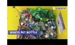 UK Enerpat Single Shaft Shredder for waste wood, cables, PET bottles - Video