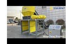 UK Enerpat Two Shaft Shredder E800 for Security Document - Paper Shredder - Video
