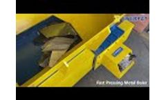 Scrap Car Hood Press Baler Machine - Metal Baler for Car Hood - Video