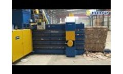 Automatic Horizontal Baler / Baling Press Machine (HBA150-110130) - Video