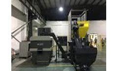 Enerpat Aluminum Chips Briquetting Press / aluminum briquetter - Video