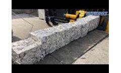 Waste Aluminum Extrusion Baler -Waste Aluminum Extrusion Compactor - Video
