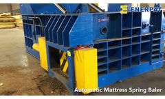 Happy Customer Series: ENERPAT Metal Baler Pressing Mattress Springs in USA